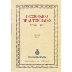 diccionario de autoridades 1726-1739. Tomo III