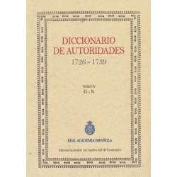 Diccionario de autoridades 1726-1739. Tomo IV