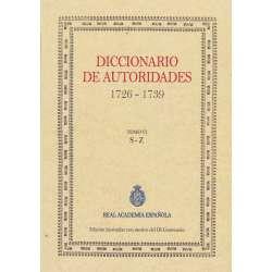 Diccionario de autoridades 1726-1739. Tomo VI