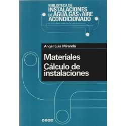 MATERIALES CÁLCULO DE INSTALACIONES. Biblioteca de Instalaciones de Agua y Aire acondicionado.