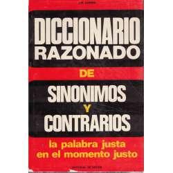 DICCIONARIO RAZONADO DE SINÓNIMOS Y CONTRARIOS.
