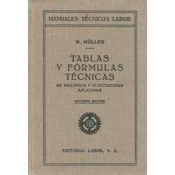 TABLAS Y FÓRMULAS TÉCNICAS DE MECÁNICA Y ELETRICIDAD APLICADAS