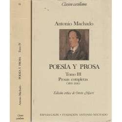 Poesía y prosa. Tomo III y IV