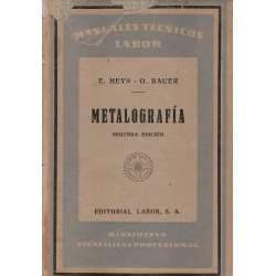 METALOGRAFÍA. Iniciación al conocimiento de los metales y sus aleaciones.