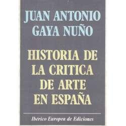 Historia de la crítica de arte en España
