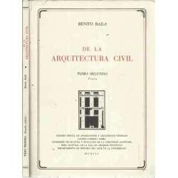 DE LA ARQUITECTURA CIVIL (II tomos)