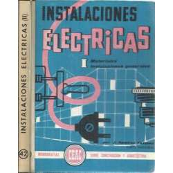 INSTALACIONES ELÉCTRICAS I y II. 2 tomos