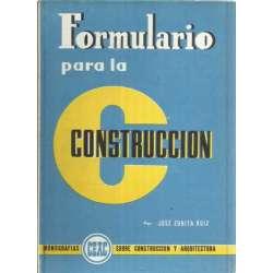 FORMULARIO PARA LA CONSTRUCCIÓN