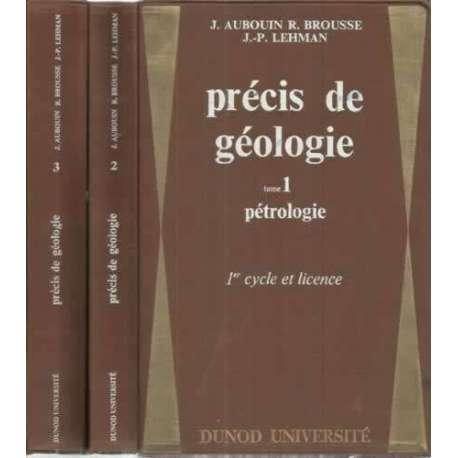 PRÉCIS DE GÉOLOGIE. 1º Cicle et licence. III Tomos