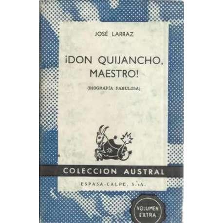 ¡Don Quijancho, maestro!