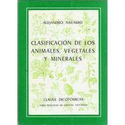 CLASIFICACIÓN DE LOS ANIMALES, VEGETALES Y MINERALES