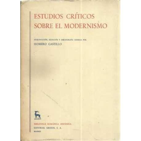 ESTUDIOS CRÍTICOS SOBRE EL MODERNISMO