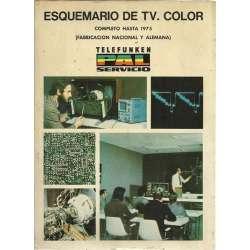 ESQUEMARIO DE TV. COLOR. Completo hasta 1975 (fabricación nacional y alemana)