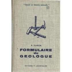 FORMULAIRE DU GEOLOGUE