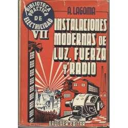 INSTALACIONES MODERNAS DE LUZ, FUERZA Y RADIO