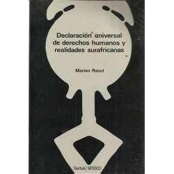 DECLARACIÓN UNIVERSAL DE DERECHOS HUMANOS Y REALIDADES SURAFRICANAS