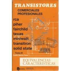 Transistores comerciales profesionales. Tomo III: Equivalencias caracteristicas