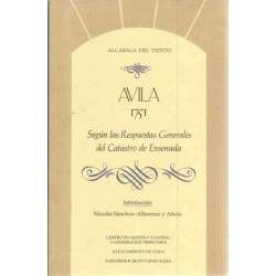 Avila 1751 según las respuestas generales del Catastro de Ensenada