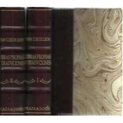 Obras propias y traducciones latinas, griegas y italianas. Con la paráfrisi de algunos Psalmos, y Capítulos de Iob. 2 tomos