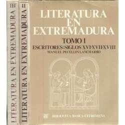 Literatura en Extremadura. 3 tomos