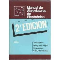 Manual de abreviaturas de electrónica