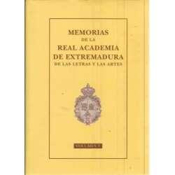 Memorias de la Real Academia de Extremadura de las Letras y las Artes. Volumen V