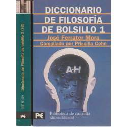 Diccionario de Filosofía de bolsillo. 2 tomos