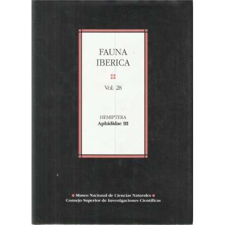 FAUNA IBÉRICA Vol. 28. Hemiptera Aphididae III