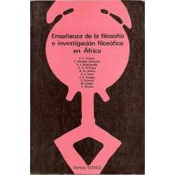 ENSEÑANZA DE LA FILOSOFÍA E INVESTIGACIÓN FILOSOFÍCA EN ÁFRICA