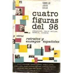CUATRO FIGURAS DEL 98 (UNAMUNO, VALLE INCLÁN, BAROJA Y AZORÍN)Y OTROS RETRATOS Y ENSAYOS ESPAÑOLES